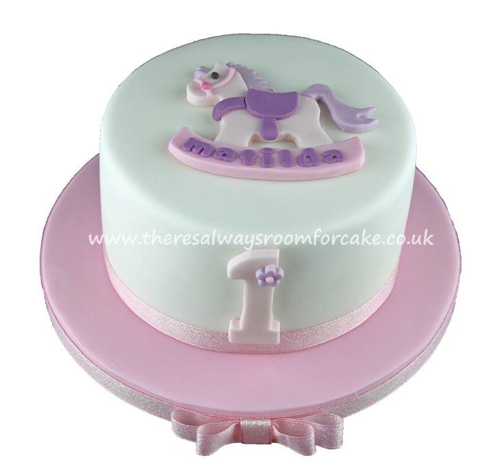 Rocking Horse 1st Birthday Cake