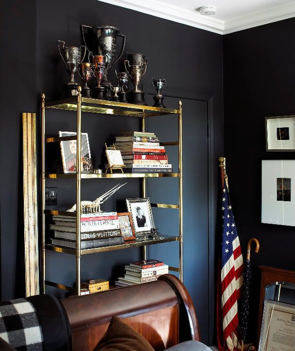 Beautifully Organized Masculine Spaces // Live Simply By Annie #darkwalls # Masculine #home
