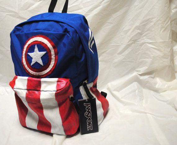 Avengers Captain America Minimalist Backpack by DayByRandomDay, $65.00