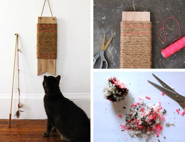 17 best images about diy pet projects hacks on pinterest for Diy easy cat toys