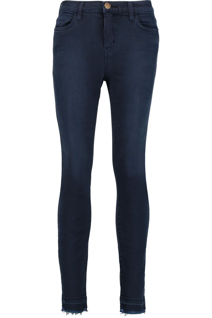 Shop on-sale Current/Elliott Stiletto frayed mid-rise skinny jeans. Browse other discount designer Jeans & more on The Most Fashionable Fashion Outlet, THE OUTNET.COM