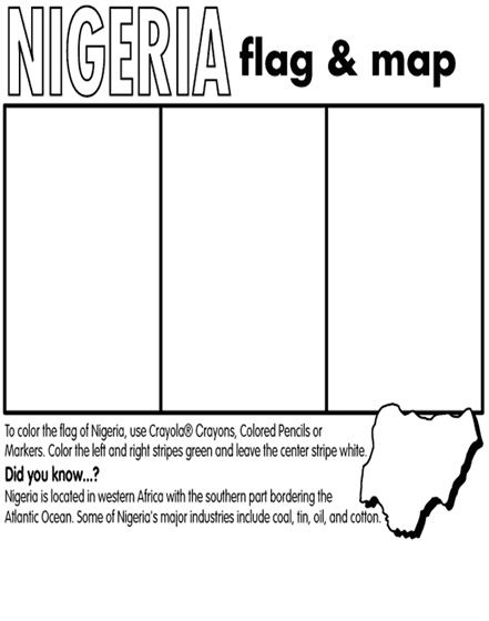 Nigeria coloring page activity