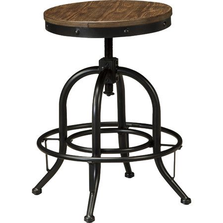 Equally at home at the breakfast table or in the game room, this industrial barstool brings bold style to any space.   Product: B...