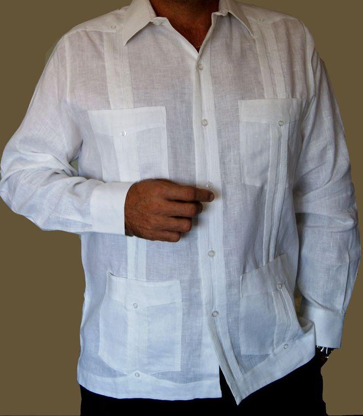 premiun linen president guayabera 3 wedding shirtsmexican
