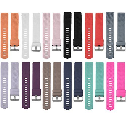 "RedTaro Replacement Bands for Fitbit Charge 2/Fitbit Charge 2 Accessories Wristbands/Fitbit Charge 2 Bands/Charge 2 Elastomer Bands 12 Plain Color Available Small. Designed Replacement Wrist Bands for Fitbit Charge 2, not for Fitbit Charge, Charge HR or other Fitbit models. Free size to slide with buckle: Small ( 5.9""-8.6"" ), Large ( 6.5""-9.0"" ). Variety of Colors: 12 plain colors available for Charge 2 wrist bands, black, white, blue, plum, blush pink, teal, tangerine, coffee, gray, pink,la"
