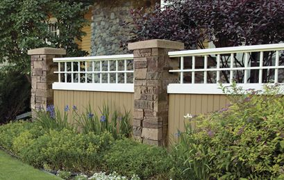 aluminum fence with tuscan w keystone cap fence