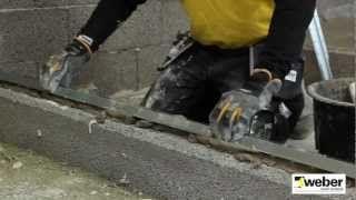 Mura innerväggar med lecablock WeberSverige - YouTube