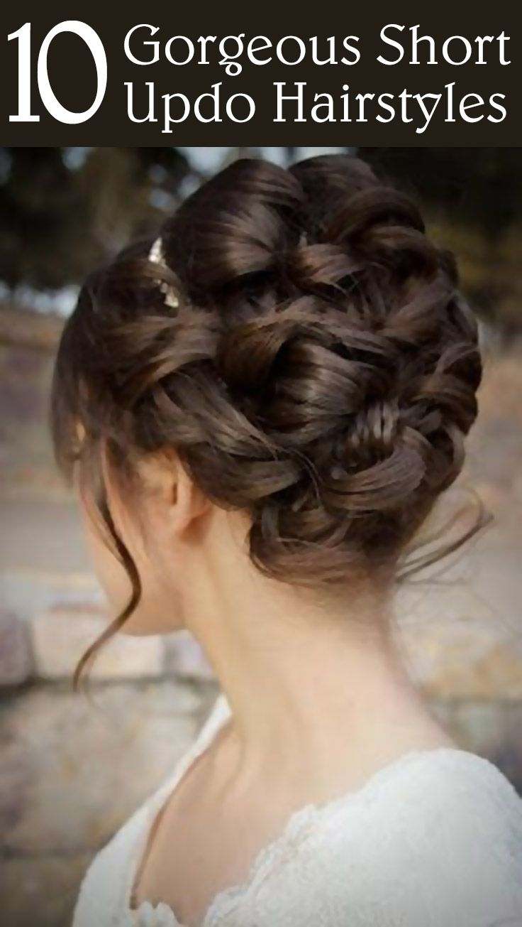 Short updo hairstyles are quite apt for any occasion and can be manipulated easily to suit one's needs. I have chosen 10 good looking updos which you will definitely want to try.