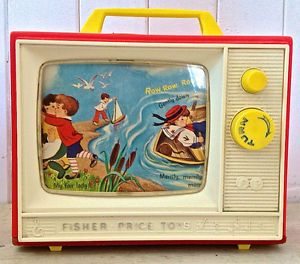 Vintage 1964 Collection. Jouet FISHER PRICE Music Box TV