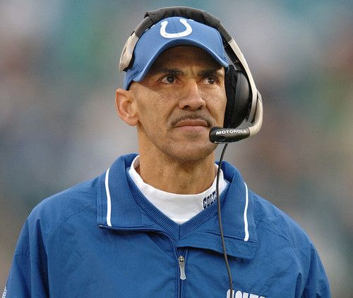 Tony Dungy. He was the best coach in the NFL......EVER!  i miss him;(