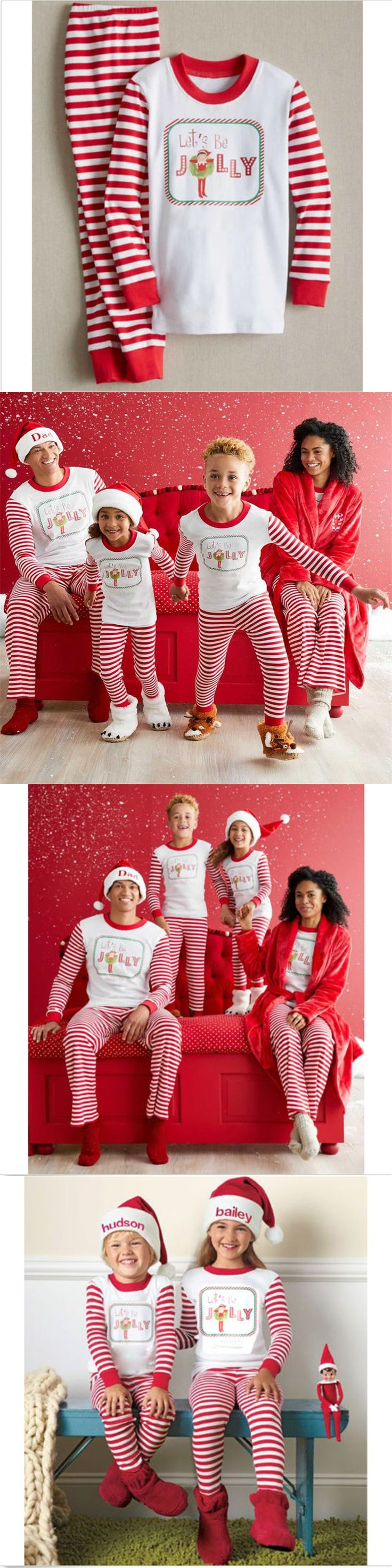 2017 New Christmas Pajamas Family Matching Clothes Sets Mother Father And Son Christmas Outfits Suit Family Clothing