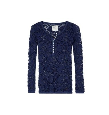 Lace blouse with buttons