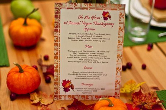 {Vegan} Thanksgiving Menu & Recipes