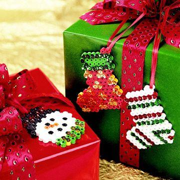 DIY Christmas Fun Perler Bead Ornaments
