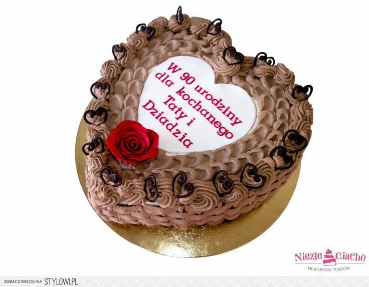 Serce Tort Urodzinowy Tort Na Urodziny Tort W Kształcie