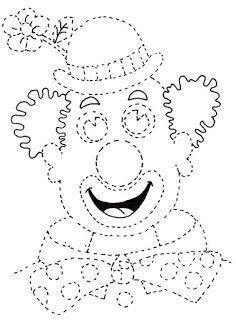 Afbeeldingsresultaat voor kleurplaat clown handstand