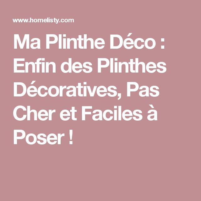 les 25 meilleures id es de la cat gorie poser des plinthes sur pinterest style rustique. Black Bedroom Furniture Sets. Home Design Ideas