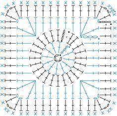 Granny Square patterns - Simply Crochet, free chart, diagram, #haken, gratis teltekening, haakschema, #haakpatroon