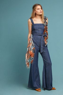 af9d19ad823 Anthopologie Pilcro Waist-Tied Denim Jumpsuit -  148  theradicalblog ...