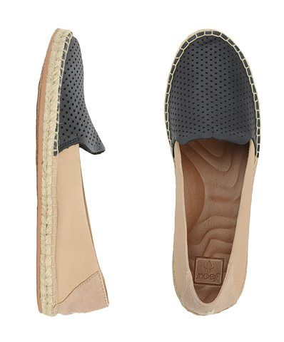 Reef Official Store, REEF SHADED SUMMER ES, tan black, Girls : Shoes : Flats, RF0008115