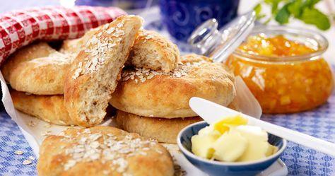 Bjud på goda glutenfria tekakor med havre till frukost eller fika.