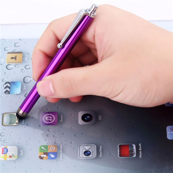 1pc New arrival Metal Stylus Touch Screen Pen for mobile Phone Tablet with capacitance screen
