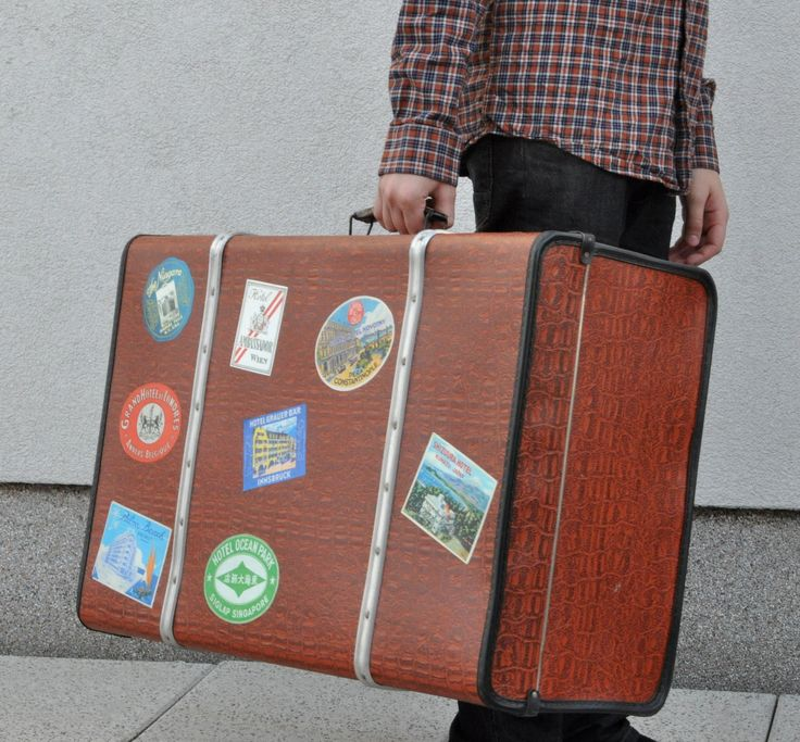 Renovated retro vintage suitcase