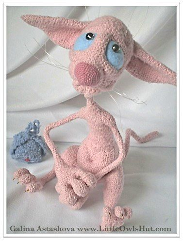 006 Crochet Pattern - Hairless Cat Fillimon with wire frame - Amigurumi - PDF…