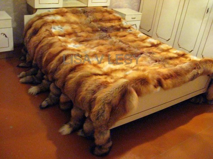 Купить Шикарное меховое покрывало из лисы - дача 2011, покрывало, меховое покрывало, меховое одеяло