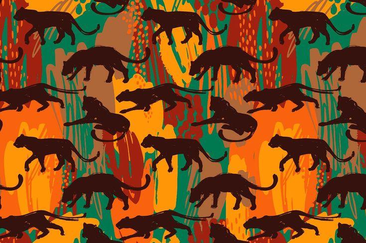 8 SAFARI surface patterns  by GrapeStudio on @creativemarket