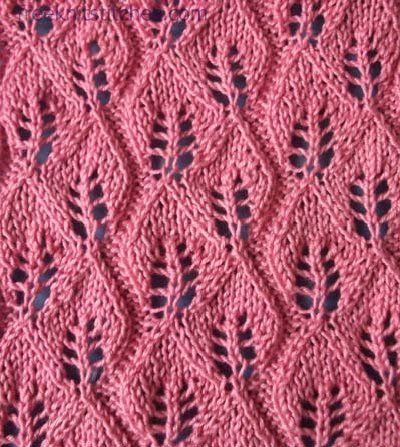 knitting lace patterns free Fall of the leaves