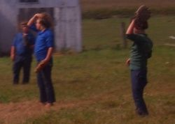 Photos of Amish children are often considered okay because they are not members of the church and not under the rules of the church. (baseball photo)