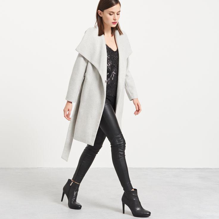 Пальто с добавкой шерсти, RESERVED