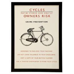 ramme med cykel plakat