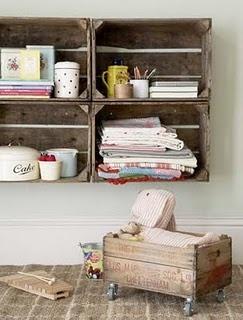 organizer: Ideas, Craft, Storage Idea, Pallet, Diy, Crates, Room