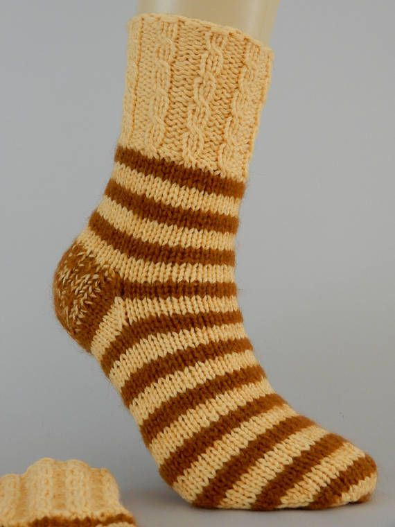 Hand knit cable socks women wool socks cable knit socks