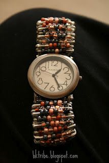 Direction on making a safety pin watch or bracelet. i used to give classes ....Pam
