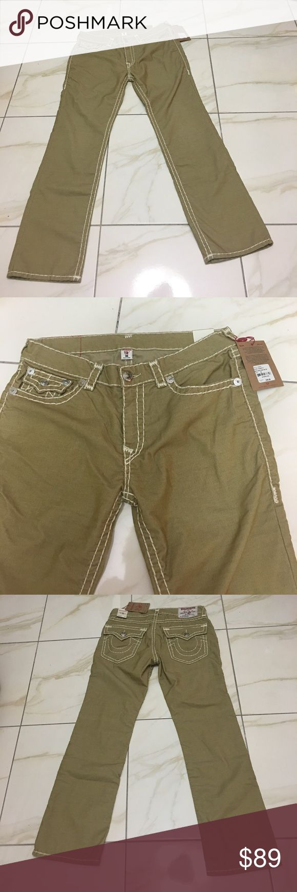 TRUE RELIGION JEANS Men's Straight Fit 36/32 NWT TRUE RELIGION JEANS Corduroy. New with tags. Style R201F2 True Religion Pants Corduroy
