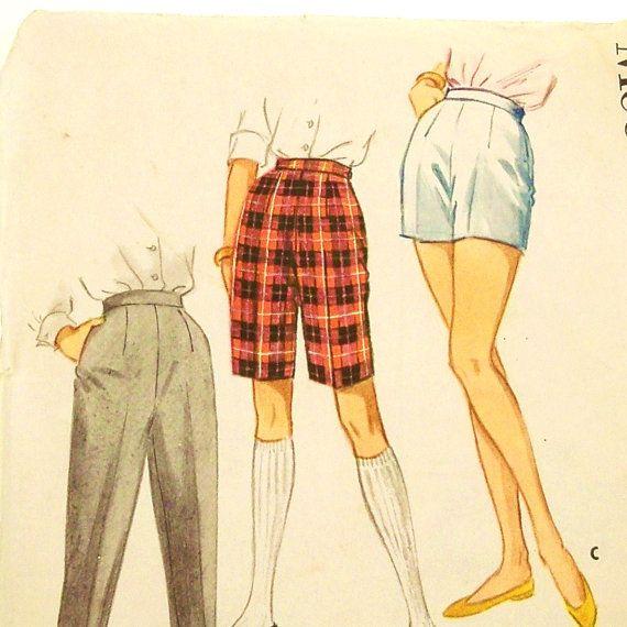 Vintage 50s Pants Shorts Pattern McCalls 5263 Size 245 by Revvie1, $8.00