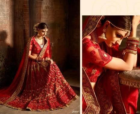 Exotic Beige And Red Bridal Lehenga Online India ,Indian Dresses - 2