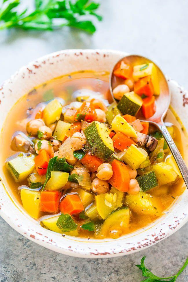 Вегетарианский овощной суп при диете