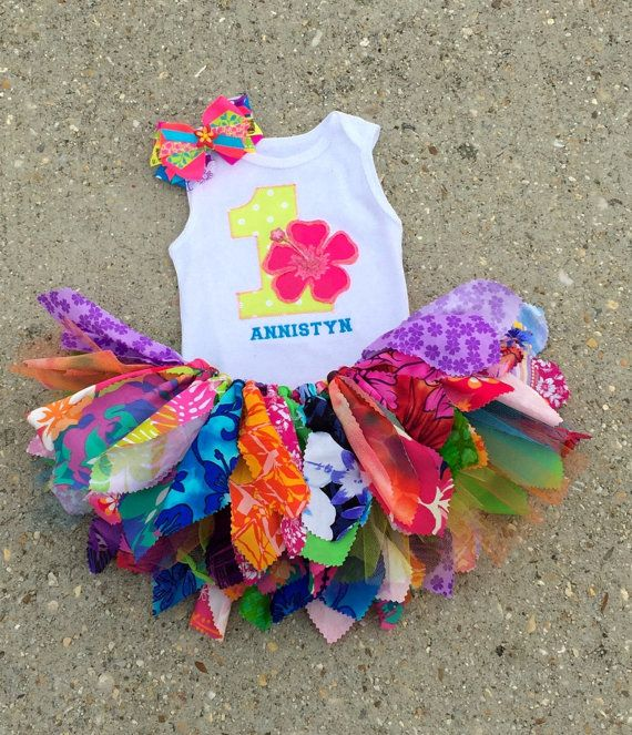 Luau+outfit+Hawaiian+birthday+Outfit++personalized++shabby