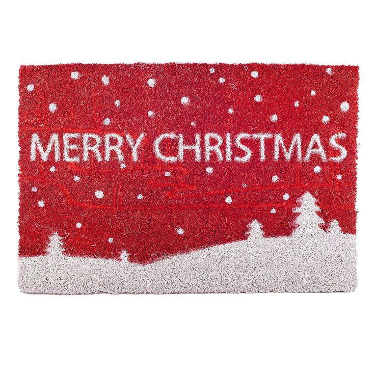 Merry Christmas Coir Doormat For The Home #Christmas #festive #doormat