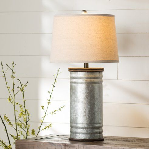 """Harnois Steel Tin Can 28"""" Table Lamp"""