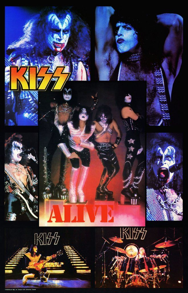 Kiss Band 24 X 38 Campus Craft Collage Reprint Poster Rock