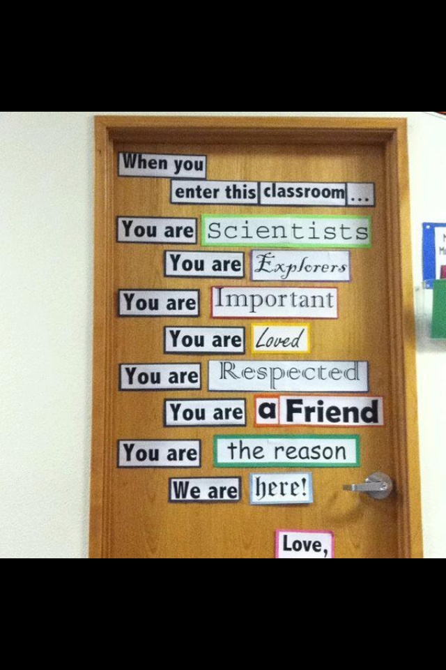 Welcome statement of a teacher's vision for her class