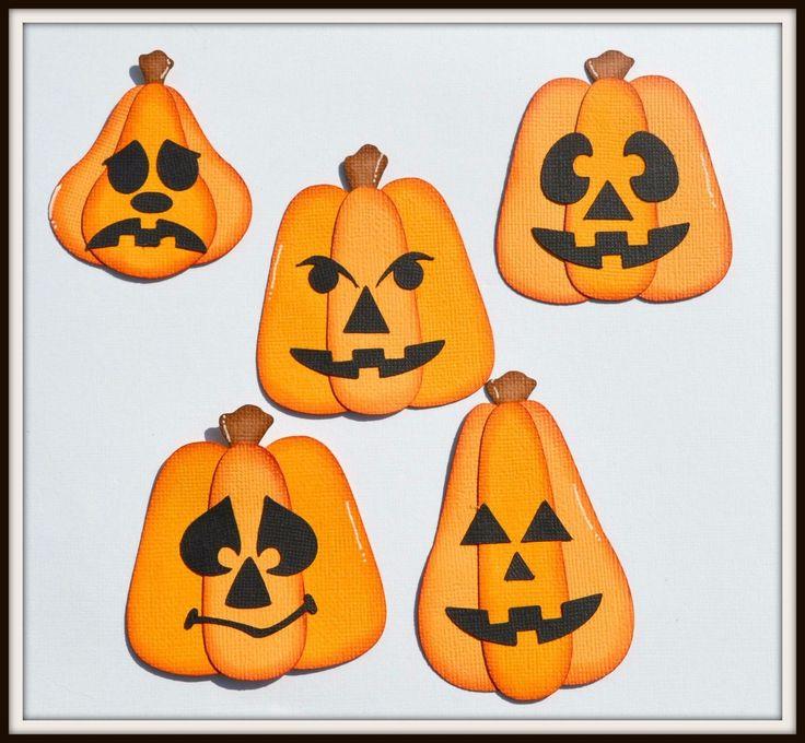 Craftecafe Pumpkin Set 1 Paper Piecing Halloween Premade Scrapbook Page Layout | eBay