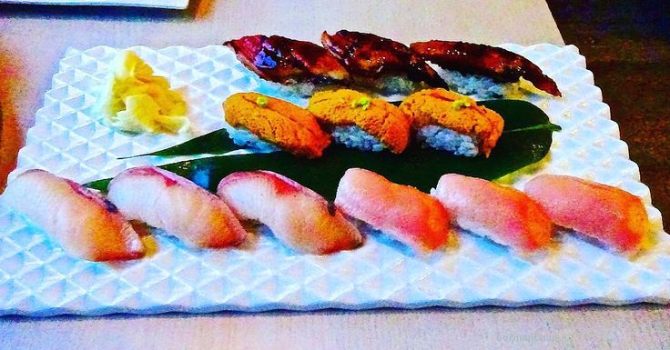 For my last potato-quality picture @ miku ....(UGH still so pissed at my fail).... This is what $65 looks like on a plate. Hamachi unagi uni and O-toro (the best omg it was $8/piece but worth every single penny. I can't even). #sushi #aburi #vancouver #yvr #vancity #food #foodie #foodpic #eat #foodporn  #instafood #foodstagram #instadaily  #vancityBuzz #VanCityEats #igersVancouver #canada #huffpostliving #foodphotography #foodphoto #vcbfood #foodpics #foodblogger #Gastropost #gastropostvan…