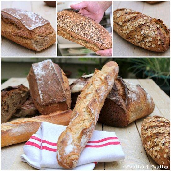 Pains : Tout pour réussir son pain maison : alimentation conventionnelle. (si seulement ça pouvait être aussi simple pour faire du pain hypotoxique sans gluten! Un pain qui n'aurait pas besoin de 30000 ingrédients,qui gonflerait bien, dorerait bien, dont la mie ne s'effriterait pas etc....)