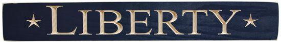 "New Rustic Farmhouse Chic Primitive Americana LIBERTY Star Blue Wood Sign 24"" #Handmade #Rustic"